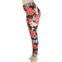 Sexy Colored Floral & Beautiful Woman Design-stretchy Leggings