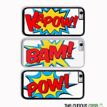 iPhone 6 Superhero Comic Book Actions | Hard Case For iPhone 6 Case  Plastic or Rubber Trim