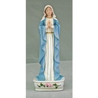 Madonna Rosary Holder - Hand Painted, First Communion, Patron Saint Index at The Catholic Company