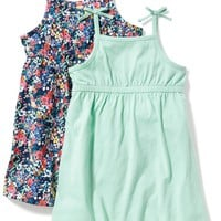Bow-Tie-Shoulder Fit & Flare Dress 2-Pack for Toddler Girls | Old Navy