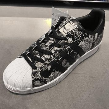 """Adidas"" Superstar Shell toe Lace Floral Casual Sneakers"