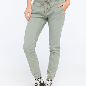 Rusty Get Hooked Womens Jogger Pants Military  In Sizes