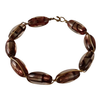 Earthtone Wire Wrapped Bangle | Overstock.com Shopping - The Best Deals on Bracelets