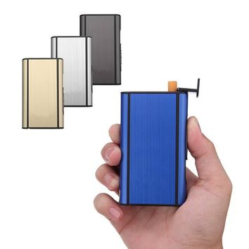 Aluminum Alloy Cigarette Packets Case Boxs Automatic Cigarette Case Cigar Cigarette Box Holder Tobacco Storage Case