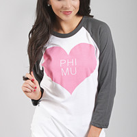 Greek Love Raglan - Phi Mu