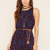 Damask Belted Dress