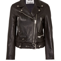 Acne Studios Black Mock Leather Biker Jacket | Womenswear | Liberty.co.uk