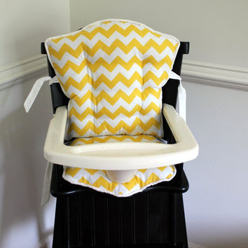 Custom Eddie Bauer Chevron High Chair Cushions, High Chair Pads, High Chair Cover, Highchair Pads, Wooden Highchair Cover, High Chair Cover