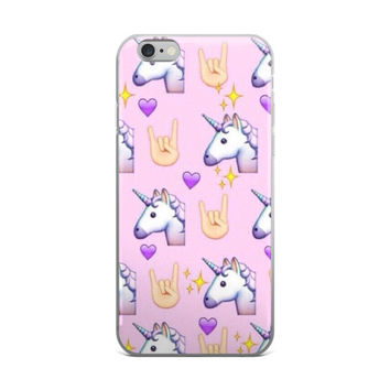 Unicorn Rockstar Emoji Collage iPhone 6/6s 6 Plus/6s Plus Case