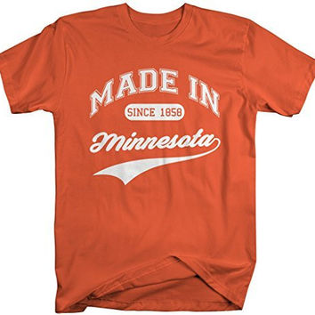 Shirts By Sarah Men's Made In Minnesota T-Shirt Since 1858 State Pride Shirts