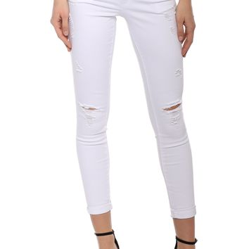 Tractr Blu 5 PKT Skinny W/ Destruction