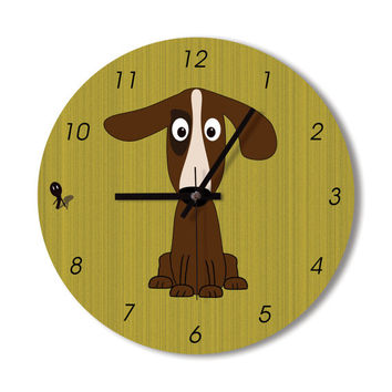 Wall Clock dog clock clock home decoration animal lovers wall art dog lovers living room children room office clock cute doodle