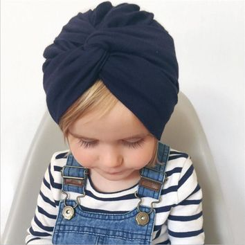 2018 Indian hat cotton Bandanas baby girls kids turban headband hair head bands wrap accessories for children headdress headwrap
