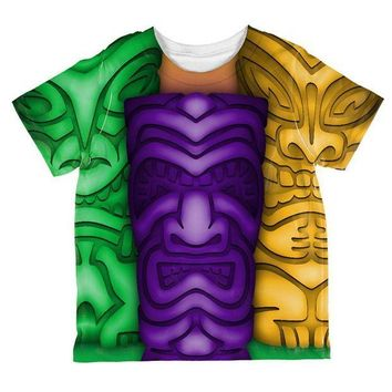 PEAPGQ9 Mardi Gras Tiki Glass Party All Over Toddler T Shirt