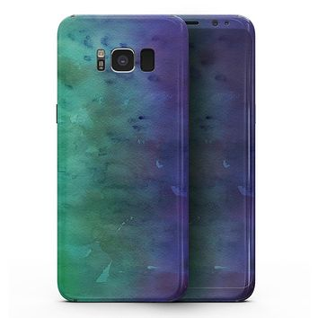 Blotted Green 97 Absorbed Watercolor Texture - Samsung Galaxy S8 Full-Body Skin Kit