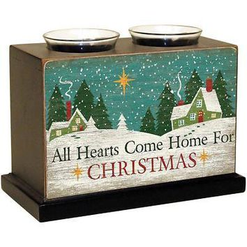 Christmas Hearts Wood Votive Box, Christmas Decor by Lang Companies