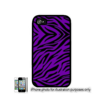 iPhone 5C 6 Plus 4 5 Case Purple Zebra Animal Print Pattern  Cover Hard Shell Back Rubber Silicone or Plastic