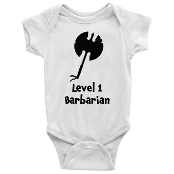 Level 1 Barbarian Baby Onesuit