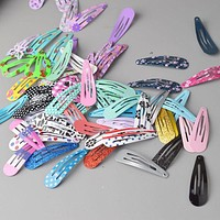 30pcs lot Set Children Snap Hair Clips Barrettes Girls Cute Hairpins Colorful Headbands for Kids Hairgrips Hair Accessories