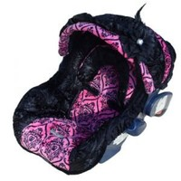 Baby Diva Rose Infant Carseat Cover by Nollie Covers