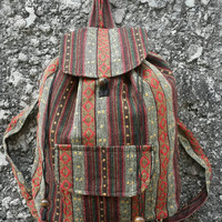 Big Boho Tribal Backpack Bags Diaper Aztec Ethnic Hippies Ethnic Hobo Tapestry Hipster Native Pattern Beach For School Messenger Travel Bag