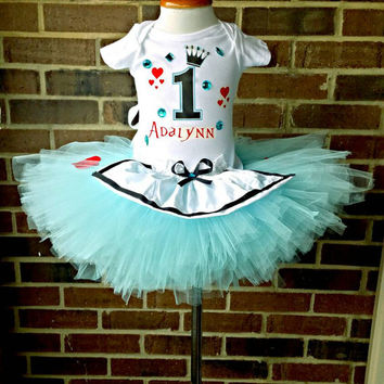 Alice in wonderland tutu, First Birthday, First Birthday tutu, Alice in wonderland tutu outfit, Alice and wonderland birthday, Alice outfit,