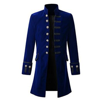 Mens Steampunk Long-Sleeved Coat
