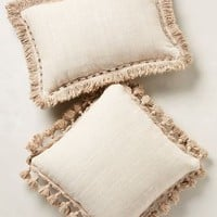 Falling Fringe Pillow by Anthropologie