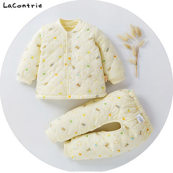 Safety Cosy Lacontrie Clothing for babies boy baby girl newborns Kids' things Clothes keep warm Coat + Pants