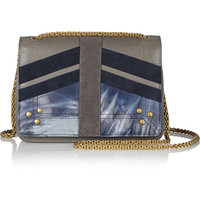 Jérôme Dreyfuss - Eliot patchwork leather and suede shoulder bag