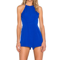Finders Keepers Guilty Pleasure Romper in Cobalt