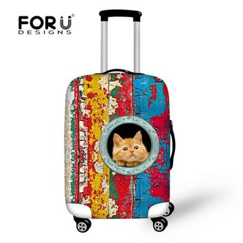 3D Animals Prints Travel Luggage Suitcase Protective Elastic Spandex Cover,Stretch,Made for 18 to 30inch Travel Case Accessories