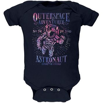 Outer Space Adventurer Astronaut Aim For The Stars Soft Baby One Piece