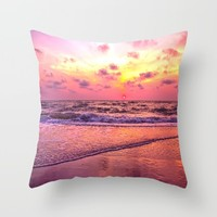 A View For the Soul Sunset Throw Pillow by Daphsam