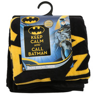 DC Comics Batman Keep Calm Micro Raschel Throw