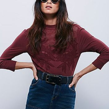 Free People Womens Primrose Tee