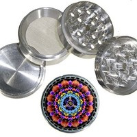 Fashion Design Medium Size 4pcs Aluminum Herbal or Tobacco Grinder # G123114-0019