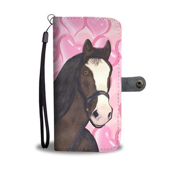 Clydesdale horse Print Wallet Case-Free Shipping
