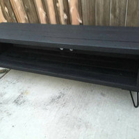 Special price all black (flat or gloss black only) Entertainment center ,console table, media stand, tv table.
