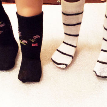 Two pair of American girl doll clothes AG doll socks 18 in doll clothes footwear 18 in doll socks doll clothing