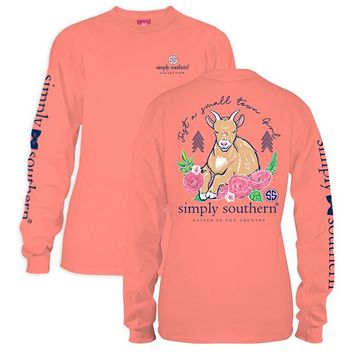 """Youth Simply Southern Long Sleeve Tee - """"Goat"""""""