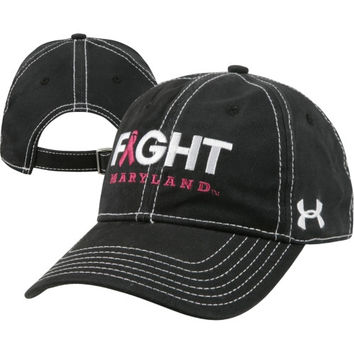 Maryland Terrapins Women's Under Armour Breast Cancer Awareness Cotton Charged Adjustable Hat