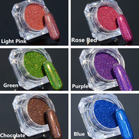 Holographic Acrylic Nail Glitter Powder - 6 Colors