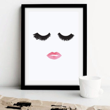Makeup Print, Wall Decor, Minimal Wall Art, Beauty Print, Fashion Print, Glamour, Home Decor, Wall Art, Makeup Poster, Minimalist Poster.