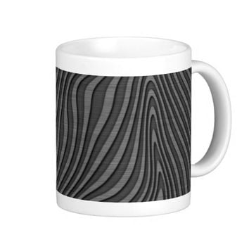 Engraved Zebra Print Effect Classic White Coffee Mug