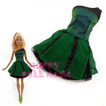 Free Shipping One PCS Doll's Original Dress Princess Gown Casual Handmade Skirt For Barbie Doll christmas Gift Baby Toy
