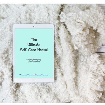 Ultimate Self-Care Manual (DIGITAL DOWNLOAD) // Self Care, Radical Self Love, Spoonie, Wellness, Self-Care Gifts, Mental Health,