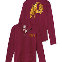 Washington Redskins Bling Half Zip Pullover - PINK - Victoria's Secret