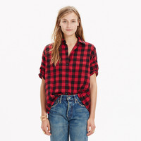 FLANNEL COURIER SHIRT IN BUFFALO CHECK