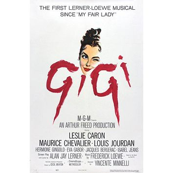 Vintage Gigi Movie Poster// Classic Movie Poster//Movie Poster//Poster Reprint//Home Decor//Wall Decor//Vintage Art
